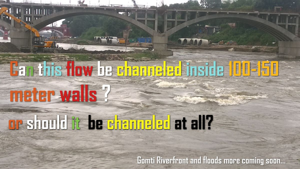 While upstream BKT and around gets flooded due to water stoppage at Kudia ghat, here is the flow of