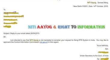 NITI Ayog refusal to act on dismal state of right to information systems in India