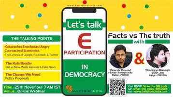 Fake News in India - Lets talk E-Democracy