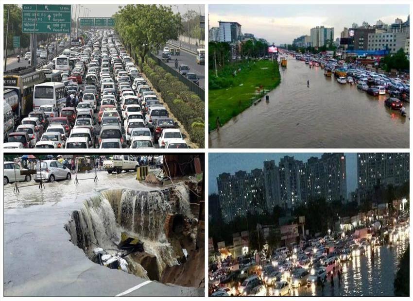 एक बारिश में 21वी सदी के जब सबसे आधुनिक शहर गुरुग्राम में दो दिन तक 25 किलोमीटर लंबा जाम लगा, तो बाक