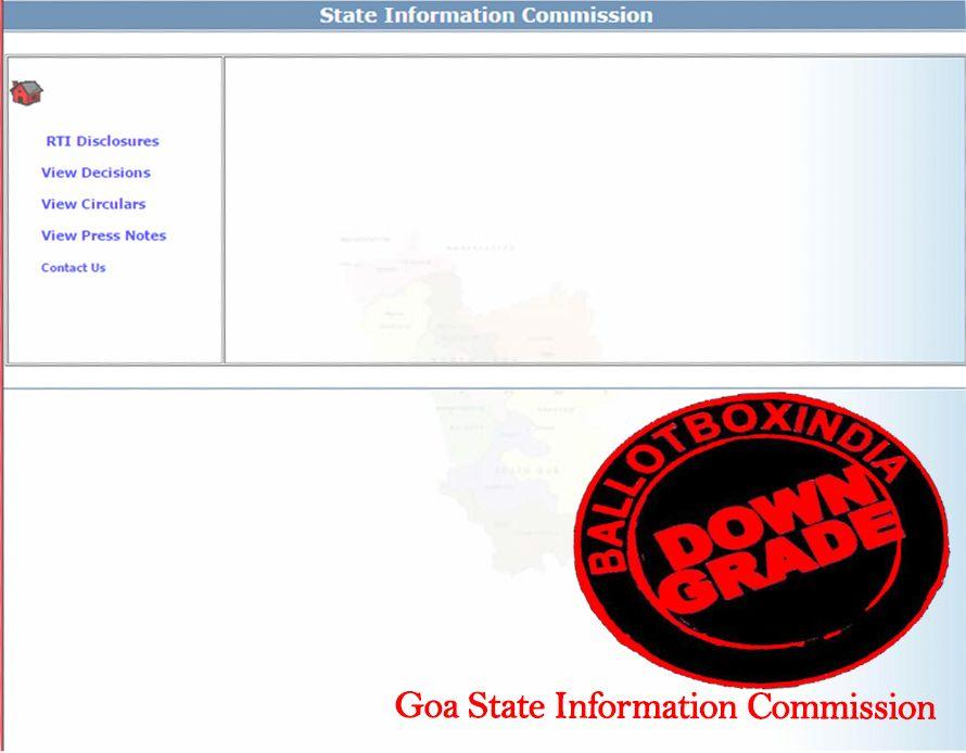 गोवा सूचना आयोग को आरटीआई (सूचना का अधिकार अधिनियम 2005) का जवाब ना देने और आरटीआई की ऑनलाइन व्यवस्थ