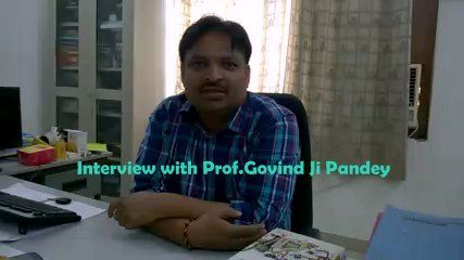 Question: So Prof. Govind Ji Pandey from where and when did you perceive and conceive the idea of st