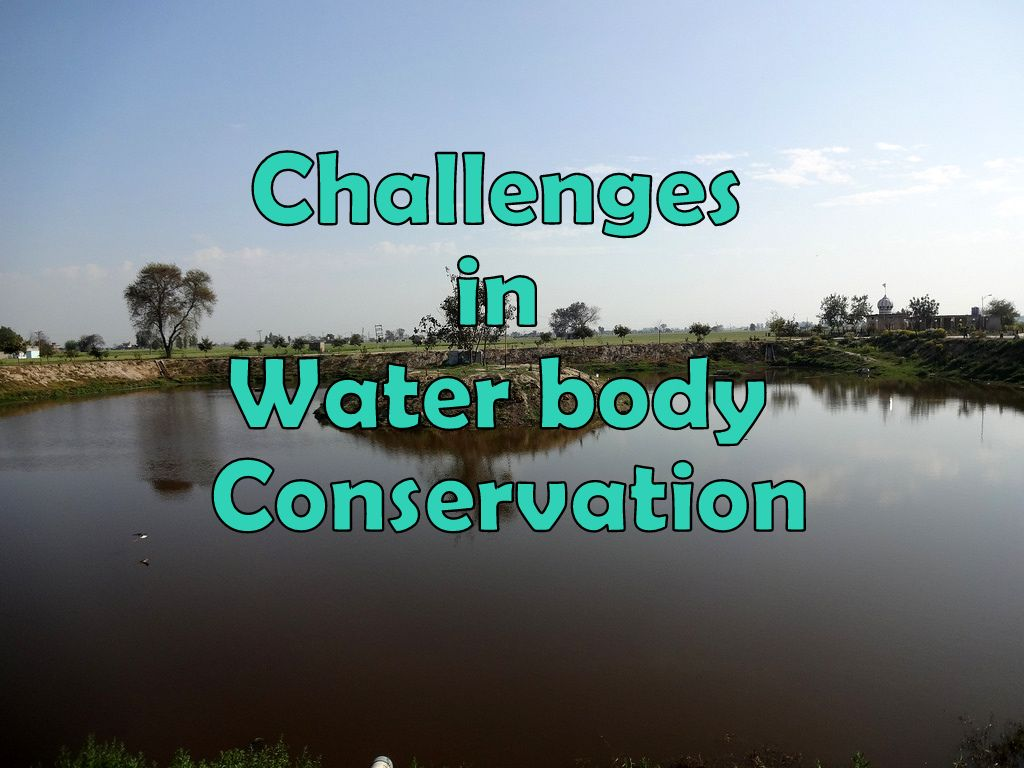 Challenges in maintaining water bodies There are several hindrances when someone resolute to maintai