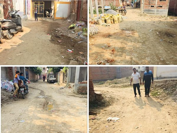 वाराणसी के नई बस्ती वार्ड, रामेष्ठ नगर कॉलोनी में पार्षद ने विकास योजनाओं हेतु किया निरीक्षण-दिनांक