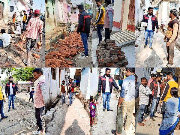 विद्याकुंड वार्ड के विभिन्न स्थानों पर करवाया गया सड़क व नाली निर्माण कार्य-प्रगतिशील भारत की संरचना