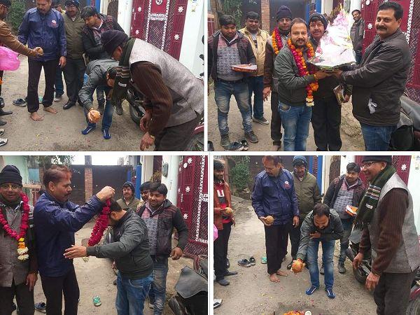 लखनऊ के चित्रगुप्त नगर वार्ड में सड़क नवनिर्माण का उद्घाटन कार्य-दिनांक - 13/01/2020लखनऊ के चित्रगुप्