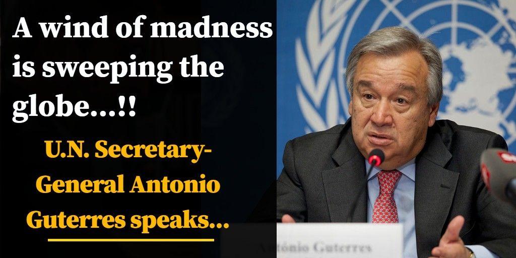 संयुक्त राष्ट्र संघ के प्रमुख ने वैश्विक जलवायु परिवर्तन और हिंसक संघर्षों पर जताई चिंता-