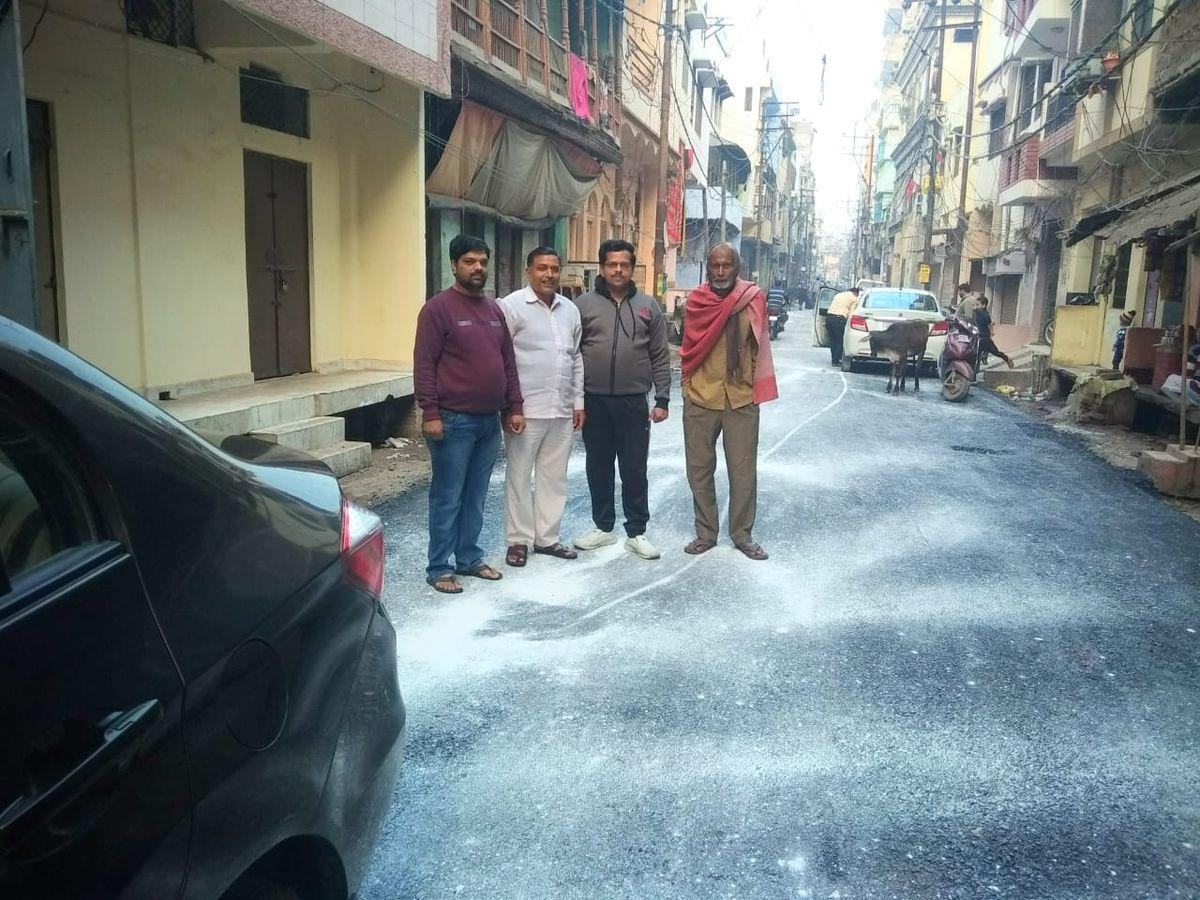 दानाखोरी वार्ड, सीताराम मोहाल में संपन्न हुआ डामर रोड निर्माण कार्य-दिनांक - 7 दिसम्बर, 2019जनता की