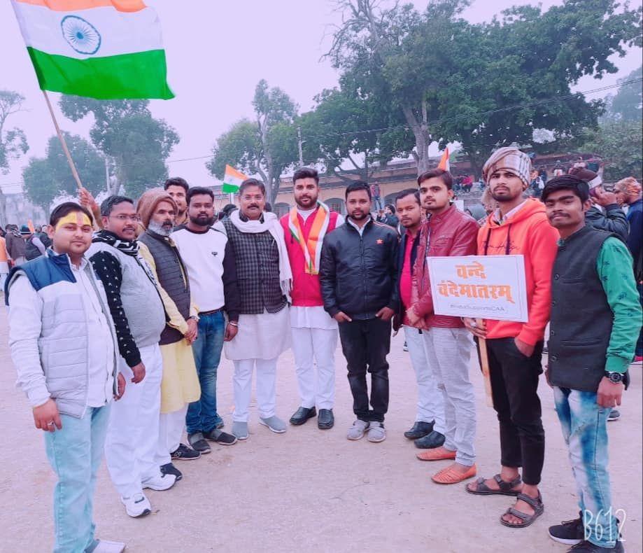विद्याकुंड वार्ड के वासियों को दी गणतंत्र दिवस की शुभकामनाएं-अयोध्या के विद्याकुंड वार्ड में धूमधाम