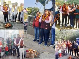 लखनऊ के हिन्द नगर वार्ड के अंतर्गत विभिन्न विकास कार्यों का शुभोद्घाटन