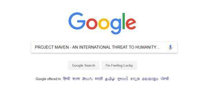 """गूगल के प्रोजेक्ट """"मेवेन"""" द्वारा अमेरिकी सैन्य अभियानों में आर्टिफिशियल इंटेलिजेंस तकनीक का उपयोग : उभरता विश्वव्यापी खतरा"""
