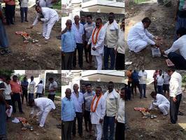वाराणसी के इंद्रपुर वार्ड स्थित कादीपुर क्षेत्र में प्रारंभ हुआ रोड इंटरलॉकिंग कार्य