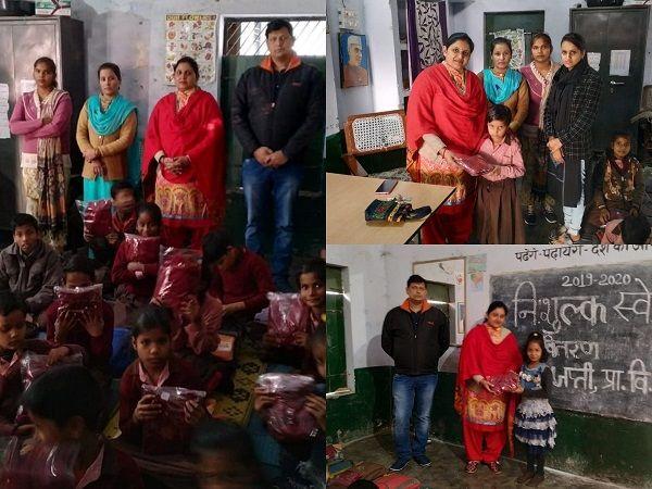 बड़ी देवकाली से पार्षद नीलम सिंह ने प्राथमिक विद्यालय के बच्चों को बांटे स्वेटर-बड़ी देवकाली स्थित प्र