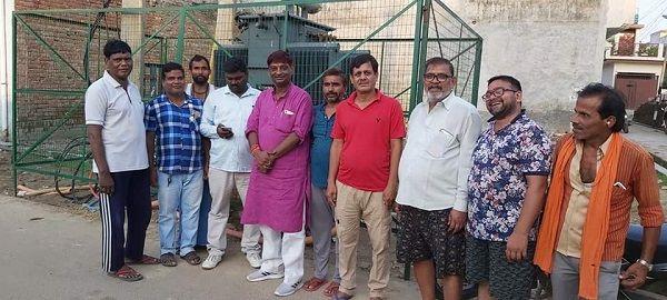 लखनऊ के आलमनगर वार्ड में कुमार पुरम के अंतर्गत नए ट्रांसफार्मर का उद्घाटन-विद्युत्