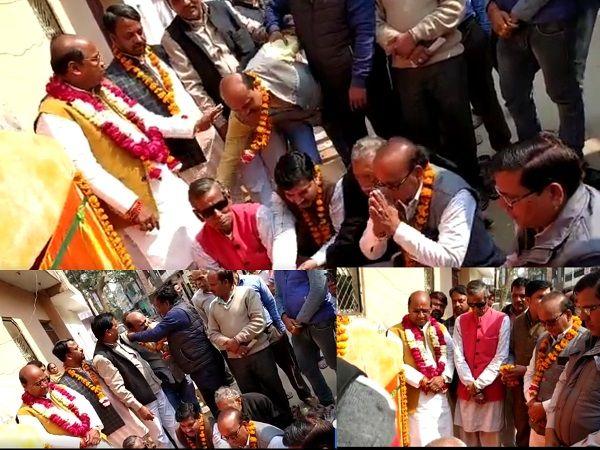 गुजैनी वार्ड के जे ब्लॉक में किया गया सड़क निर्माण कार्य का शिलान्यास-कानपुर स्थित गुजैनी वार्ड में व