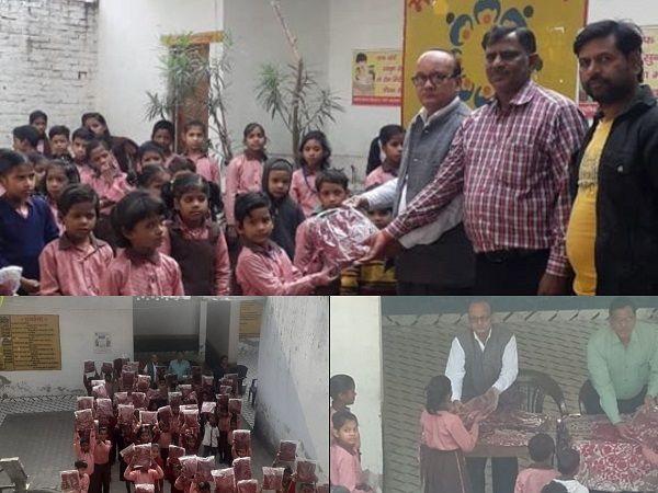 गुज्जैनी वार्ड 55 में प्राथमिक विद्यालय के बच्चों को स्वेटर वितरित किए-बच्चों का रुझान शिक्षा की ओर