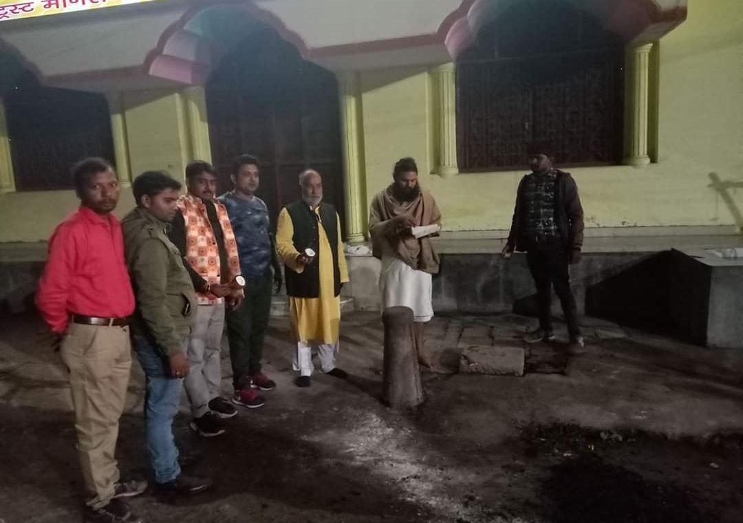 राम जानकी मंदिर के निकट सड़क निर्माण कार्य का शिलान्यास-सभी स्थानीय नागरिकों के सहयोग से क्षेत्रीय वि