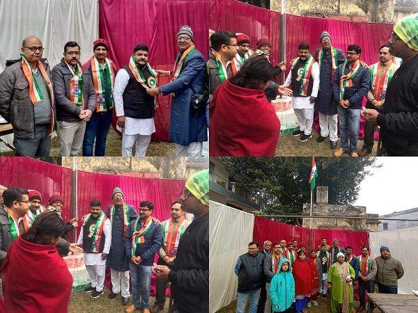 लखनऊ के अंतर्गत महात्मा गांधी वार्ड में विभिन्न इलाकों में मनाया गणतंत्र दिवस-लखनऊ में महात्मा गांधी