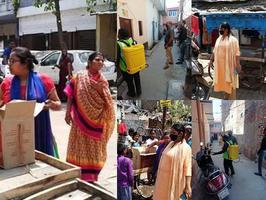 कानपुर के ग्वालटोली वार्ड में कोरोना के संक्रमण से सुरक्षित रखने के लिए सेनेटाइजेशन