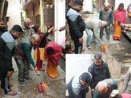 लखनऊ स्थित महात्मा गाँधी वार्ड के अंतर्गत पार्षद ने कराया रोड़ व नाली निर्माण कार्य का उद्घाटन