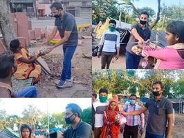 कानपुर के अंतर्गत सर्वोदय नगर वार्ड में मजदूर वर्गों को पार्षद ने राशन उपलब्ध कराने का मिशन चलाया