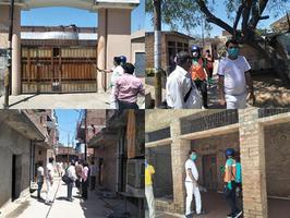 कानपुर स्थित खाड़ेपुर क्षेत्र में विभिन्न स्थानों को कराया सेनेटाइज