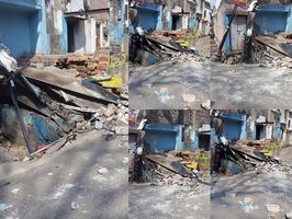 वाराणसी स्थित कमच्छा में कुंआ धसने से लोगों के बीच भय की स्थिति