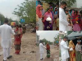 कानपुर के अंतर्गत श्याम नगर में पार्षद ने जरूरतमंदों को बांटा राशन